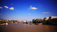 HD timelapse. River Thames and city from London Bridge video
