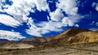 Timelapse rolling clouds over mountain , Leh, Ladakh, Jammu and Kashmir, India video