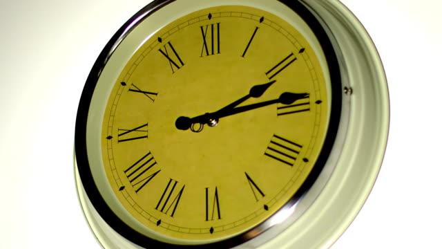 Timelapse. Roman numerals clock. Time video