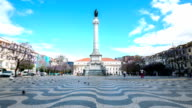 HD Time-lapse: Rossio Square Lisbon Portugal video