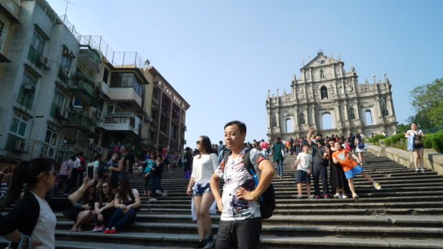 Timelapse Ruins Of St Paul's Church In Macau video