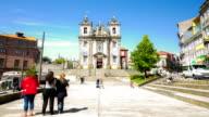 HD time-lapse: Saint Ildefonso Church in Porto Portugal video