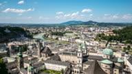 4K Time-lapse: Salzburg Cityscape along the river salzach Austria video