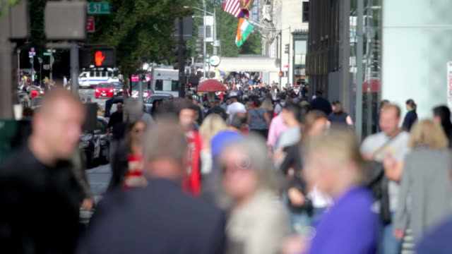 Time-lapse Sequence Of Traffic And Pedestrians On 5th Avenue video