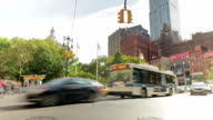 Time-lapse Sequence Of Traffic On New York Street video
