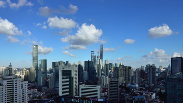 Time-lapse: Shanghai Skyline at Sunny Day video