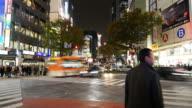 Timelapse : Shibuya in Tokyo Japan video