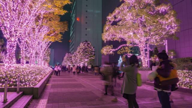 4K Timelapse : Shinjuku Terrace City Illumination in Tokyo , Japan video