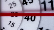 Timelapse shot of clock face video