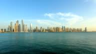 Timelapse shot of Dubai marina skyline video