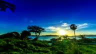 Timelapse shot of Sunrise over Lake video