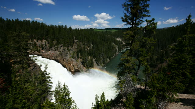 Timelapse shot of waterfall, Yellowstone video