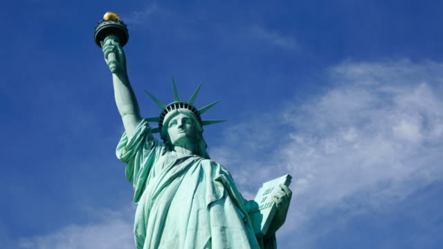 Timelapse shot - Statue of Liberty video