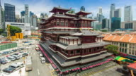 4K Timelapse : Singapore Buddha Tooth Relic Temple video