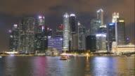 Time-lapse Singapore City at Night video