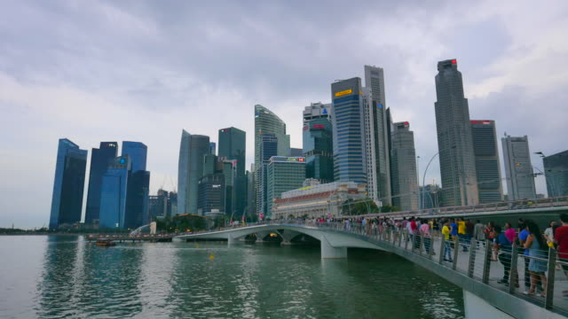 4K Time-lapse Singapore city day to night video
