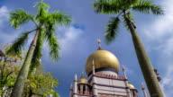 Time-lapse Singapore City  Mosque video