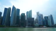 Time-lapse Singapore city video