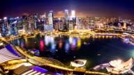 HD Time-lapse: Singapore Cityscape at dusk video