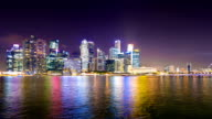 HD Time-lapse: Singapore Cityscape at dusk video