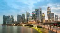 4K Time-lapse: Singapore Cityscape Marina Bay video