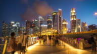 4K Time-lapse: Singapore Cityscape Marina Bay video