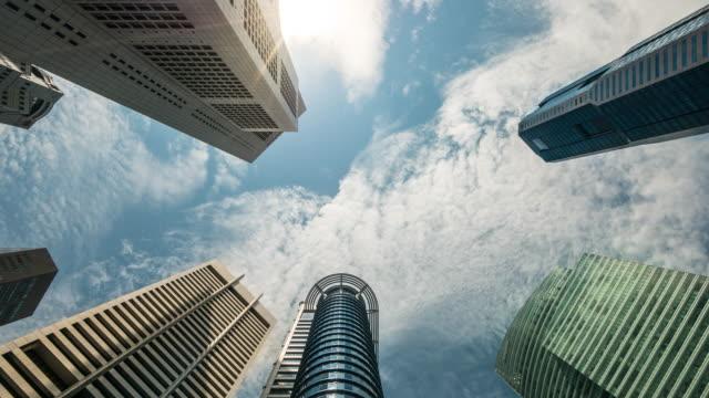 4K Time-lapse: Singapore Cityscape Office Background, 4K(UHD) video