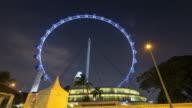 4K Timelapse: Singapore flyer in night video
