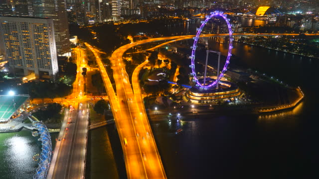 4K Time-lapse Singapore flyer video
