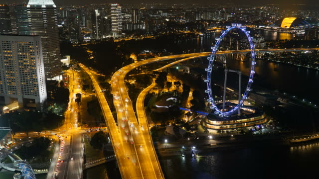 HD Timelapse - Singapore flyer video