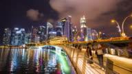 4K Timelapse : Singapore Marina Bay sand cityscape video