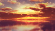 Timelapse sky background. Sunset reflecting in the tranquil water. video