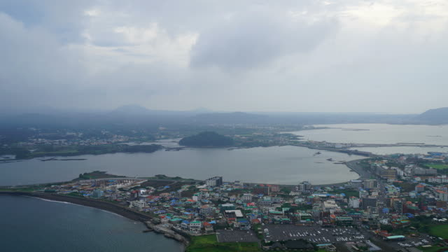 timelapse skyline city scape in Jeju video