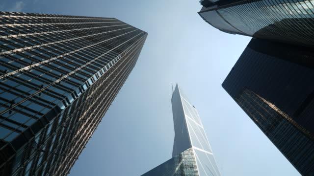 Timelapse skyscraper building in hong kong video