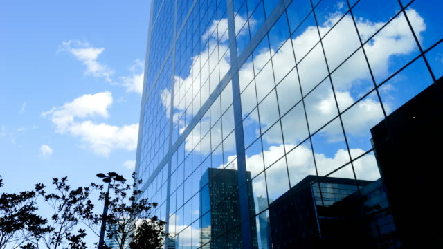 4K time-lapse Skyscraper office business building in Paris, La defense - time-lapse 4K video