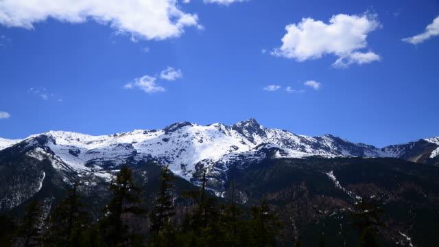 Time-lapse: Snow Mountain Range Landscape and Cloudscape video