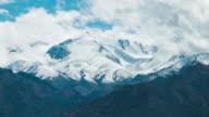 Timelapse Snow mountain range:4K video