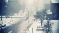 Timelapse Snow Traffic Tint video