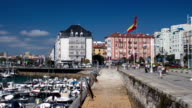 Timelapse - Spanish flag in Santander video