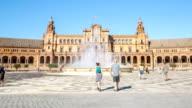 HD Time-lapse: Spanish Square espana Plaza in Sevilla Spain video