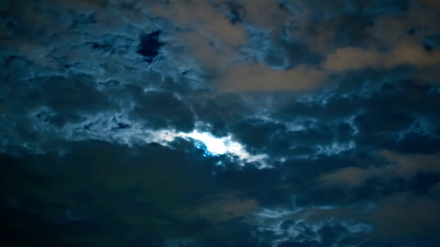 timelapse stars and moon in night sky video