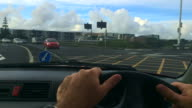 Timelapse steering wheel point of view driving in Auckland New Zealand video