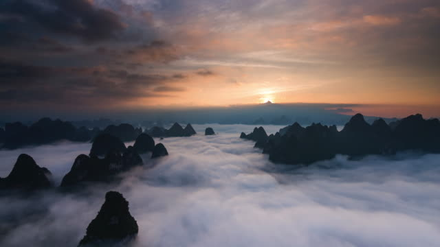 Timelapse sunrise above clouds part 2 video