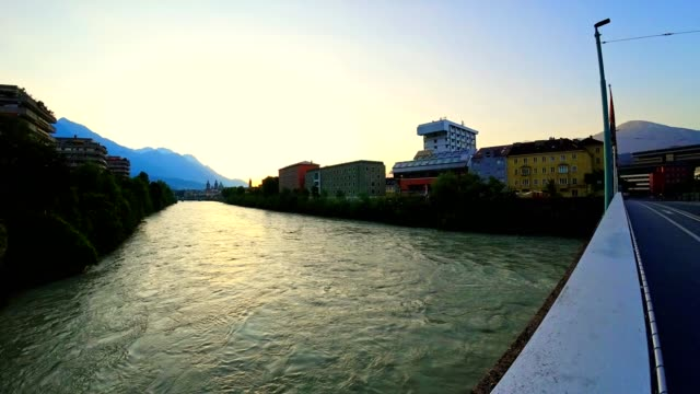 Time-lapse: sunrise above the old town of Innsbruck, Austria video