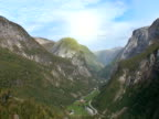 Timelapse sunrise mountain range video