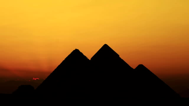 Timelapse. Sunrise over pyramids. Giza Egypt. video