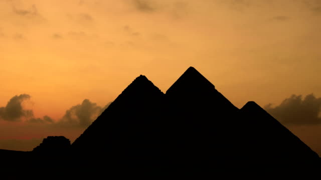 Timelapse. Sunrise over pyramids in Giza Egypt. video
