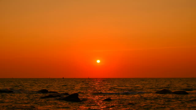 Time-lapse: Sunset at the Sea video