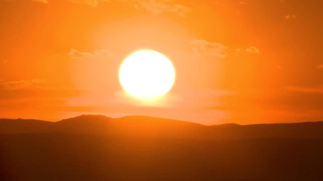 Timelapse Sunset Mongolian Steppe video