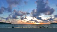 HD Timelapse sunset on the beach video